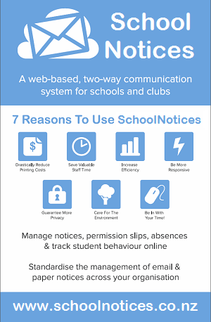 SchoolNotices MVC.Net web portal, www.schoolnotices.co.nz